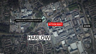 It happened on Kitson Way in Harlow this morning.