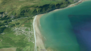 Aerial of Fairbourne