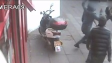 CCTV released of violent knife attack in east London.