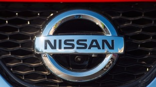 Nissan car badge