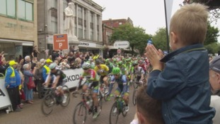 Tour of Britain Stage Two gets underway in Carlisle