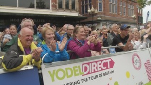 Crowds in Carlisle city centre