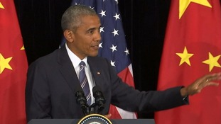 Barack Obama addressed the media after his final G20 meeting