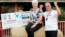 Bill & Jean Dicken celebrate their million pound win.