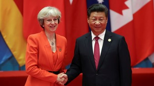 Mrs May will hold talks with Chinese President Xi before departing the summit.