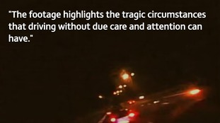 Dash cam footage highlights dangers of 'careless driving'