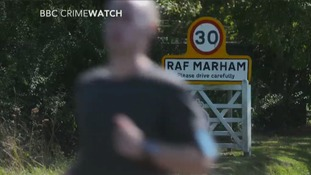 Crimewatch reconstruction of RAF Marham attempted abduction.