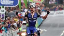 Julien Vermote wins stage two of the 2016 Tour of Britain in Kendal
