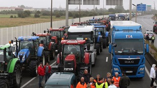 French lorry drivers have ended their 'go-slow' in Calais.