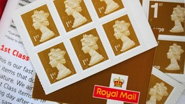 First-class stamps at a Post Office