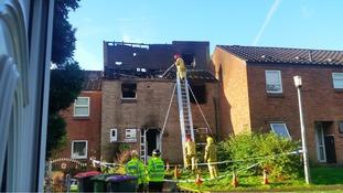 Scene of fire in Telford