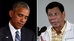 Philippine President 'regrets' remarks about Obama