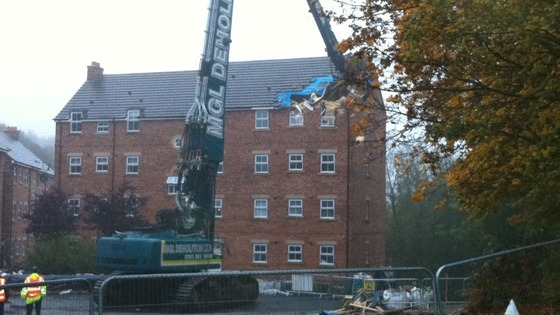 Newburn flats' demolition