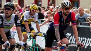 Bradley Wiggins on the first day of the Tour of Britain