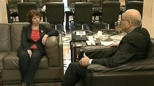 European Union foreign policy chief Baroness Ashton and Lebanese Prime Minister Najib Mikati