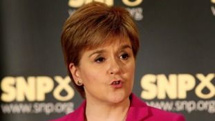 First Minister Nicola Sturgeon speaking at an event in Stirling