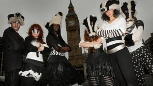 Dance group Artful Badger  performed at the badger cull protest