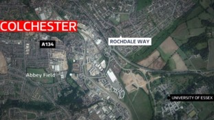 The fire happened in Colchester on Sunday.