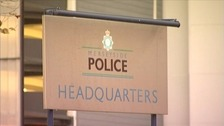 Police HQ sign