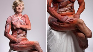 Quadruple amputee poses nude to raise awareness of organ and limb donation
