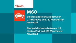 The M60 is blocked in both directions due to a police incident.