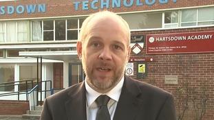 Headteacher Matthew Tate.