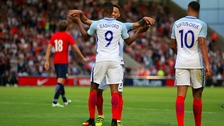Marcus Rashord bagged a hat-trick on his debut for the England Under-21s.