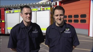 Firefighters from Stockhill Fire station