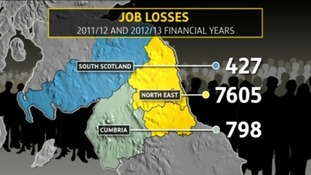 Map of job cuts