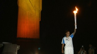 The torch arrived in Rio yesterday
