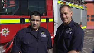 Andrew Alexander, and Sanj Molar, Firefighters