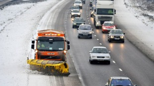 Gritting on the M5 in December of 2010