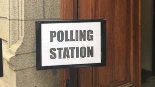 Jersey polling station