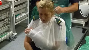Paramedic suffers broken hand as three ambulance staff injured treating patients