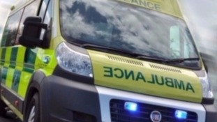 A motorcyclist is in a serious condition in hospital