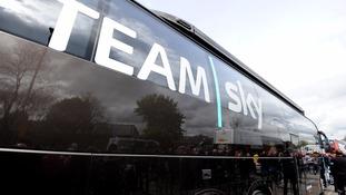 Team Sky apologise over cyclist near miss
