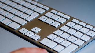 Computer keyboard.