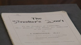 """The Fresher's Don't"" guide for students joining St John's College in Cambridge in the 1890s"