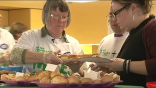 Julie organises charity cake sales to raise money for cancer research