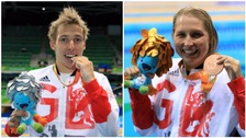 Jonathan Fox and Stephanie Millward took the first of the West's Paralympic medals last night