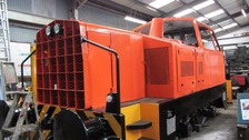 A diesel shunter is returning to service today after two years of restoration by enthusiasts in Cornwall.