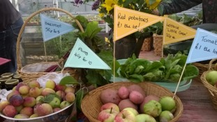 Allotment associations and local food producers will be selling produce, and winter vegetable plant