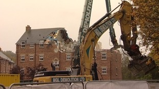 Demolition day for Newburn flats