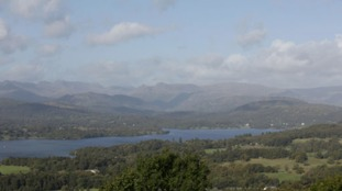 A view of Windermere from the summit of Orrest Head