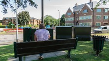 This popular bench view in Royston has been blocked by four telecom boxes