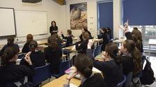 Pupils at a Jewish school