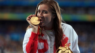 Great Britain's Libby Clegg with her Gold medal