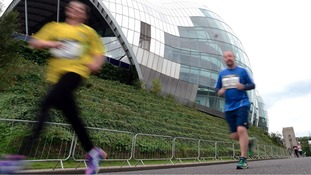 Runners sweep past Sage Gateshead.