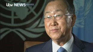 UN Secretary General, Ban Ki-moon.