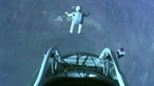 The moment Felix plunged from the edge of space